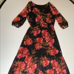 Ana long floral dress